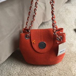 Orange purse with remove UT pin!!